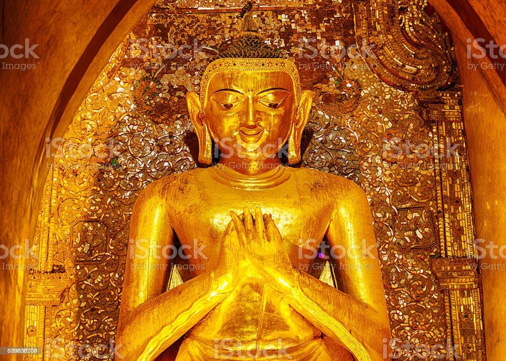 Buddha statue in Ananda temple stock photo