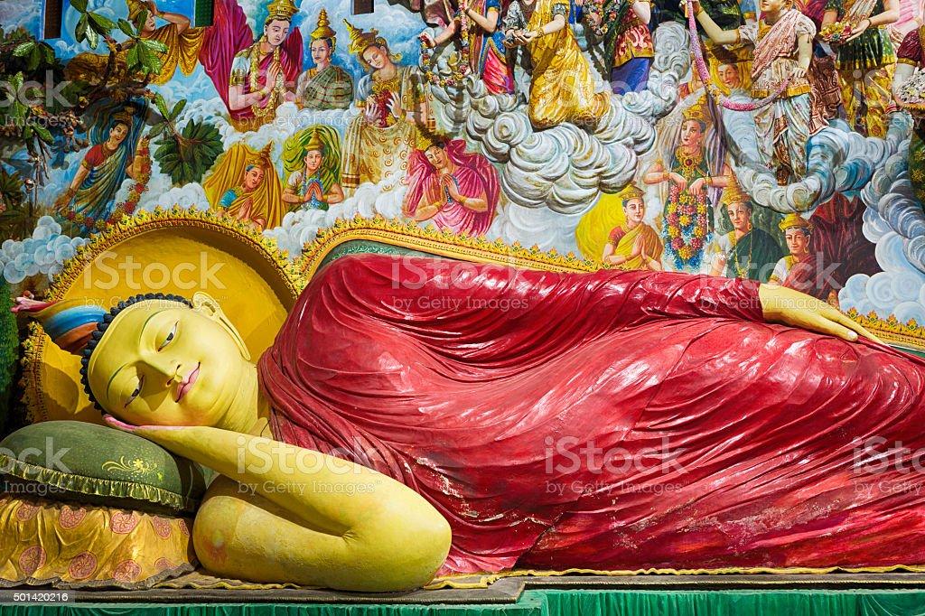 Buddha Statue in Angurukaramulla Temple, Negombo, Sri Lanka stock photo