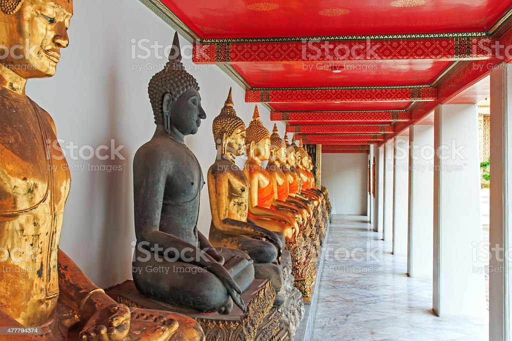Buddha statue in Bangkok, Thailand stock photo