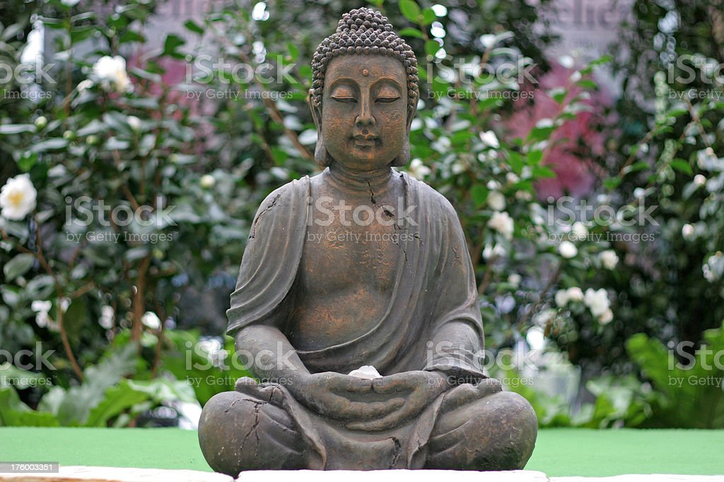 Buddha statue in garden royalty-free stock photo