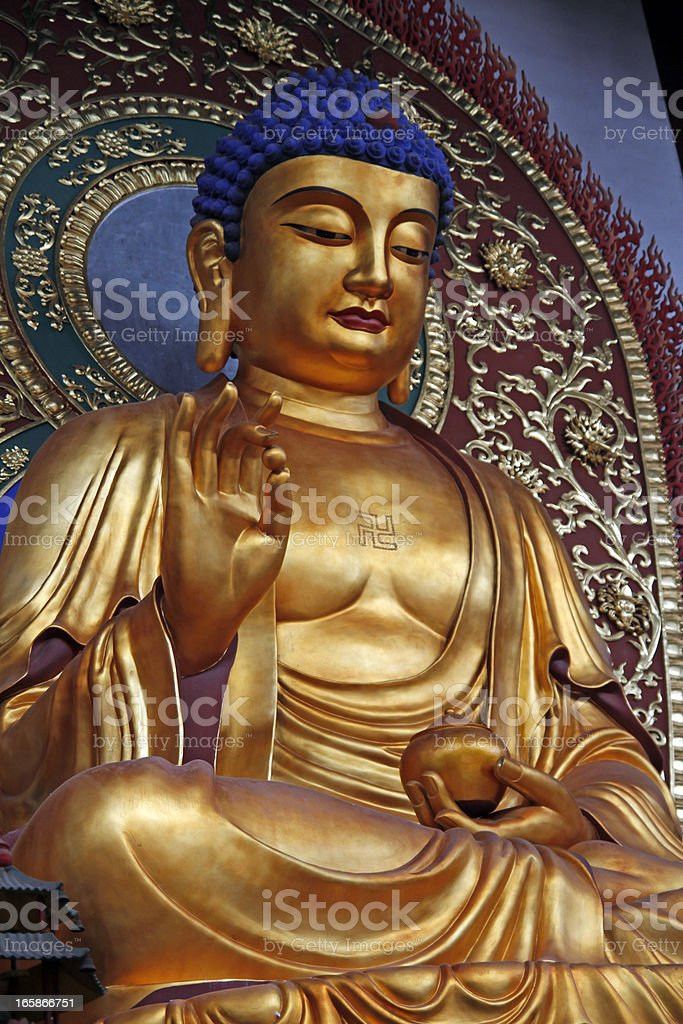 Buddha statue in Lingyin Temple royalty-free stock photo
