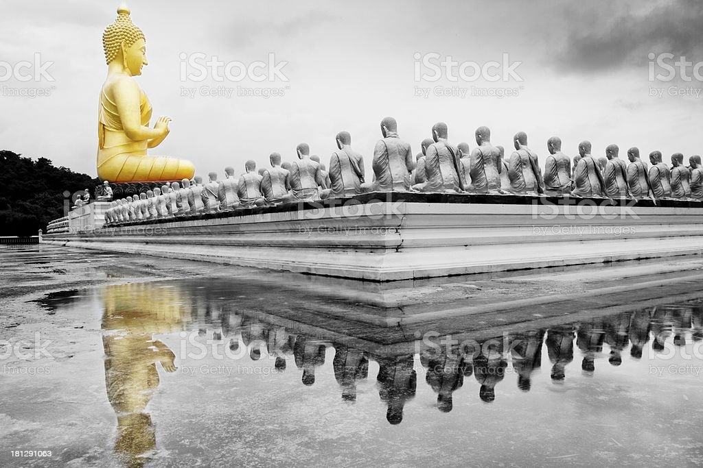 Buddha statue in Magha Puja park royalty-free stock photo