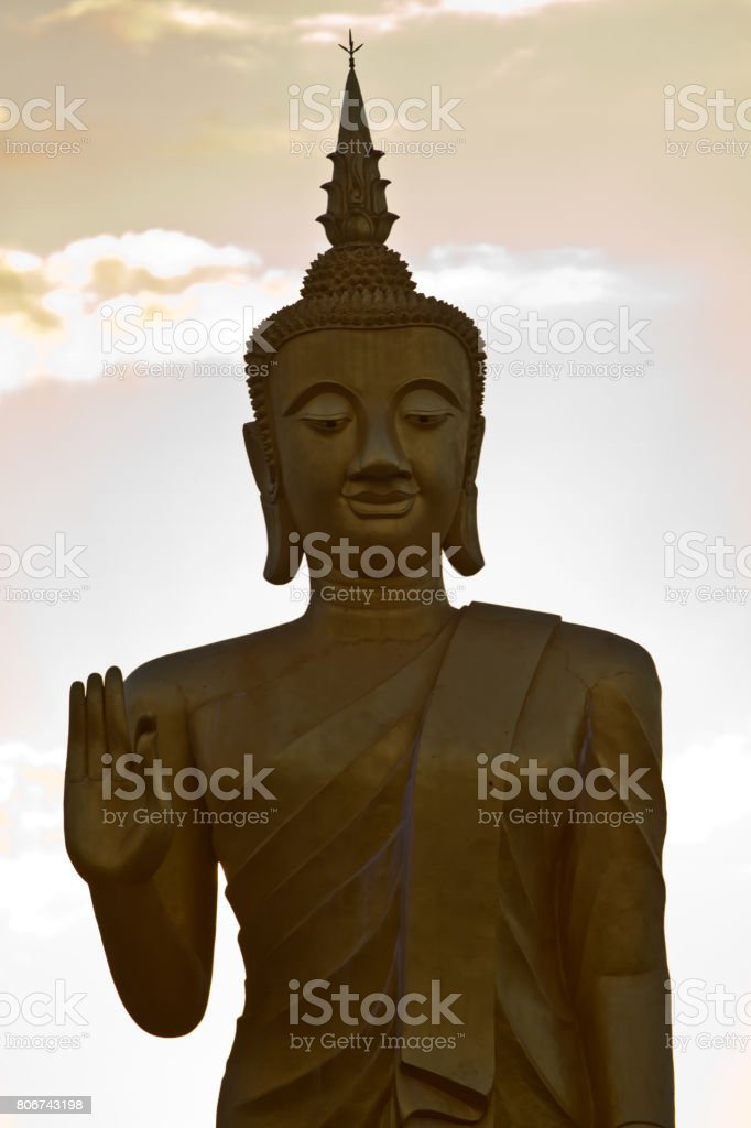 Buddha statue in Muang Xai, Laos stock photo