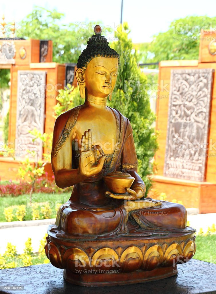 buddha statue in nature stock photo