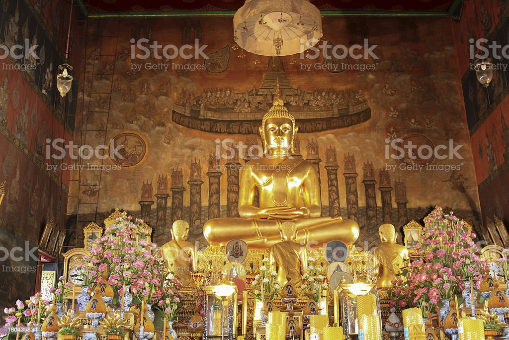 Buddha statue in temple around thailand royalty-free stock photo