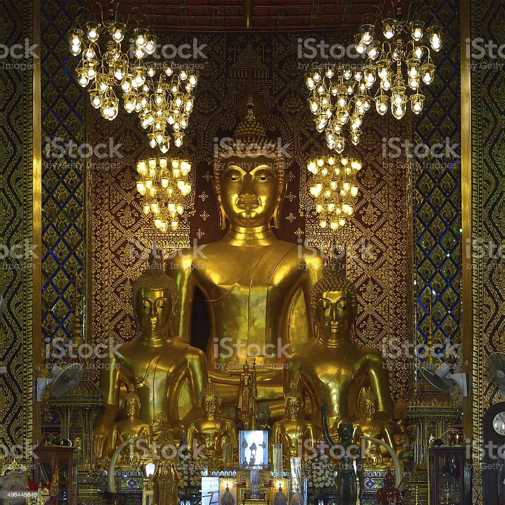 Buddha statue in temple buddhism royalty-free stock photo
