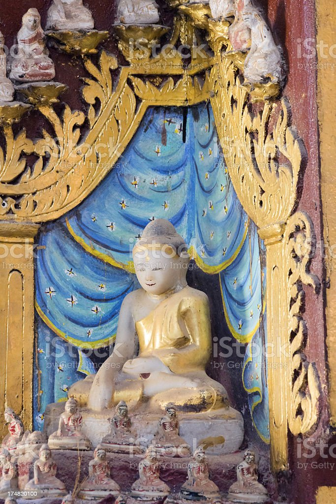 Buddha statue in the Thanboddhay pagoda (Monywa, Myanmar) stock photo
