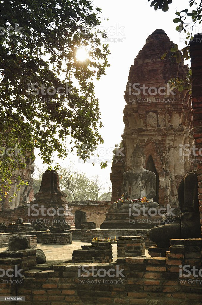 Buddha Statue in Wat Maha That royalty-free stock photo
