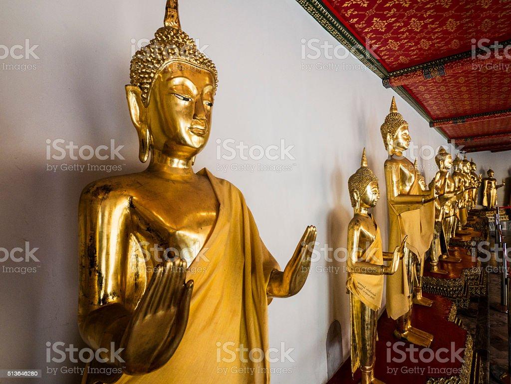 Buddha statue in Wat Pho Bangkok Thailand stock photo