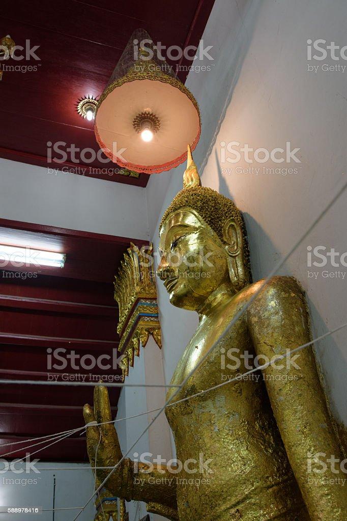 Buddha statue in wat Thammamun Worawihan stock photo