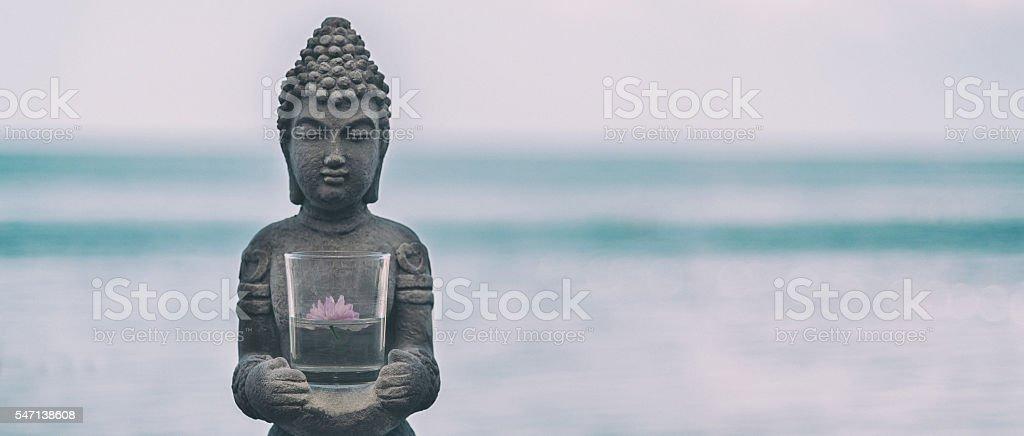 Buddha Statue Near The sea stock photo