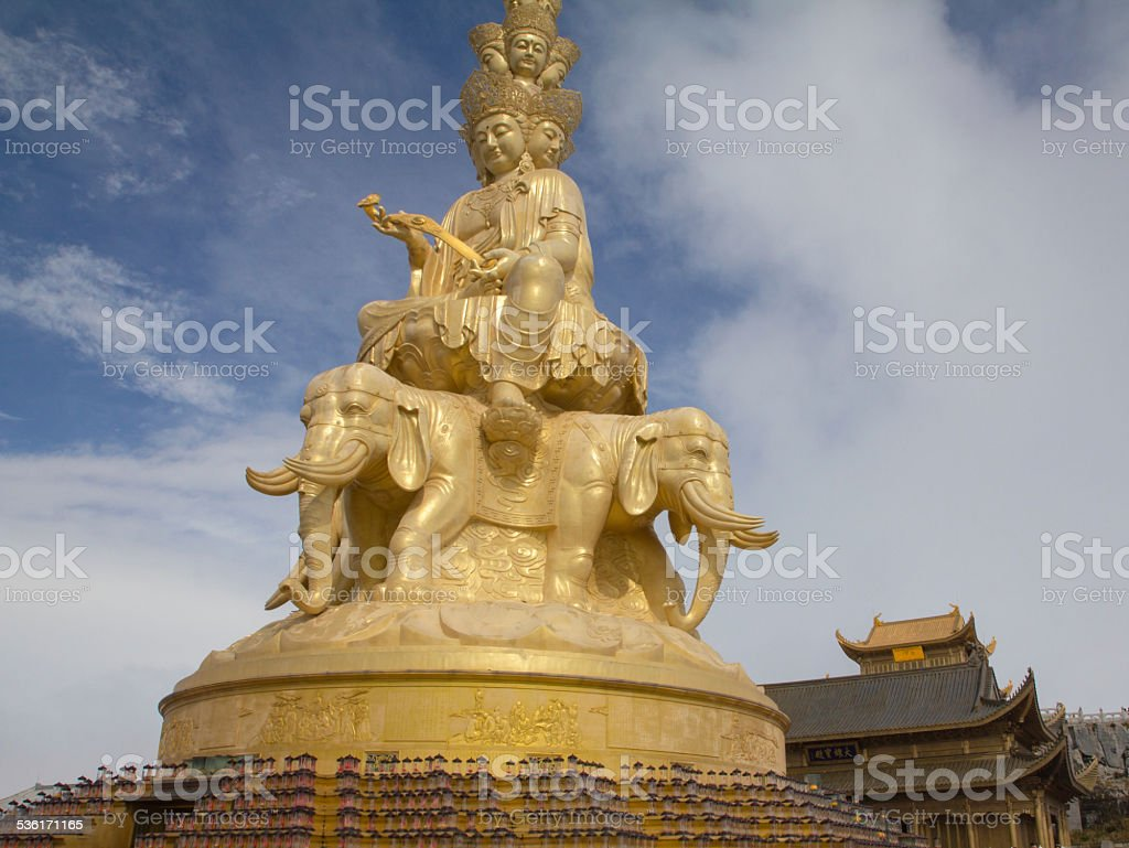 Buddha Statue on Mount Emei, Sichuan, China stock photo