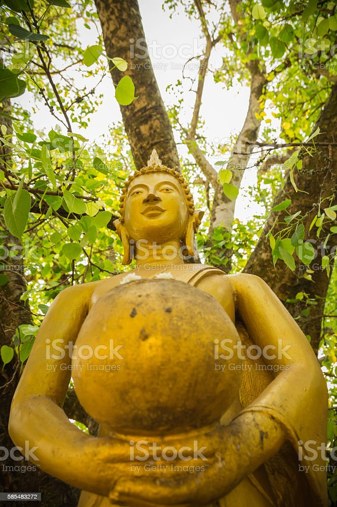 Buddha Statue That luang Stupa stock photo