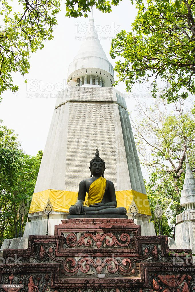 Buddha statue ,the northern of Thailand and selective focus royalty-free stock photo