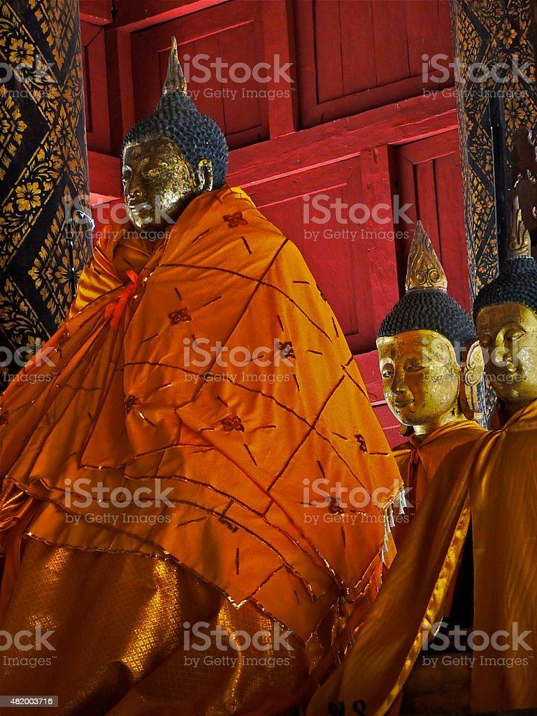 Buddha statue - Wat Phratatr Lampang Luang Thailande - Image stock photo