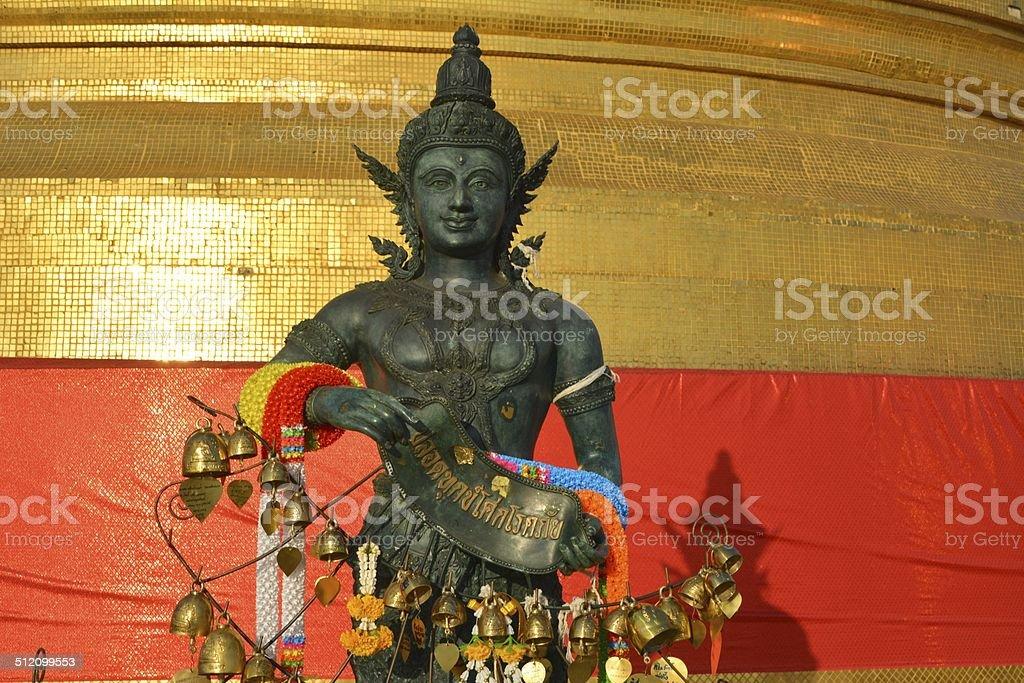 Buddha statue - Wat Saket, Golden Mount temple - Bangkok stock photo