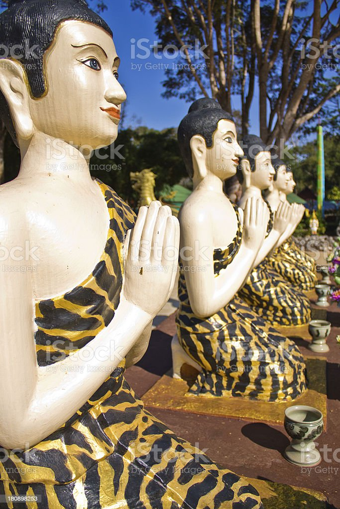 Buddha statues and sculptures hermit royalty-free stock photo