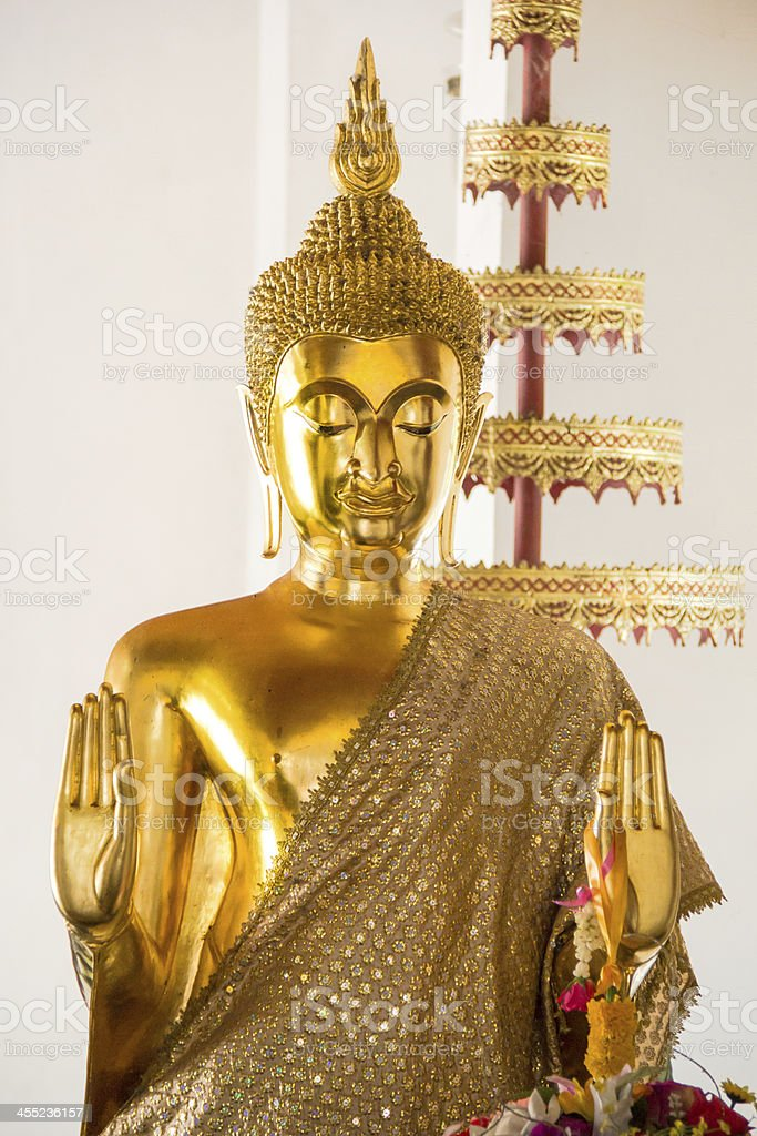 buddha statues as a respected of Thailand stock photo