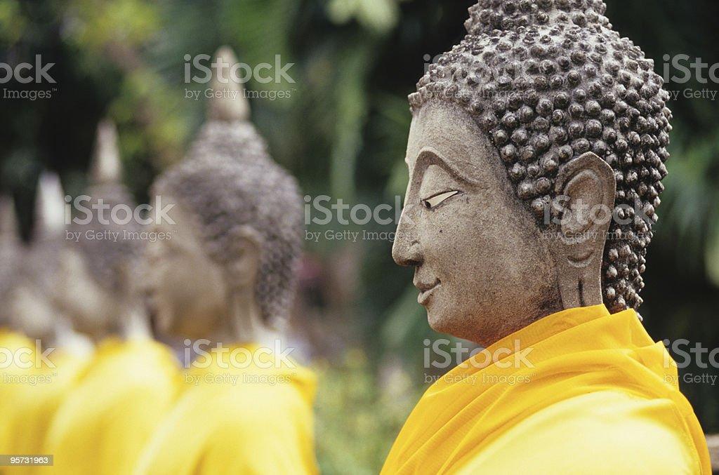 Buddha Statues, Ayutthaya, Thailand royalty-free stock photo