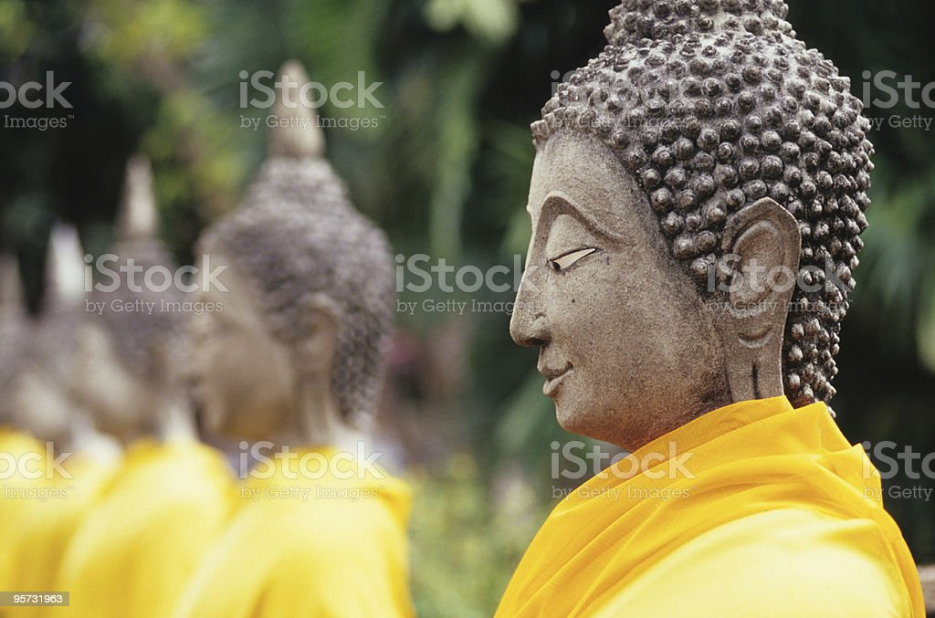 Buddha Statues, Ayutthaya, Thailand stock photo