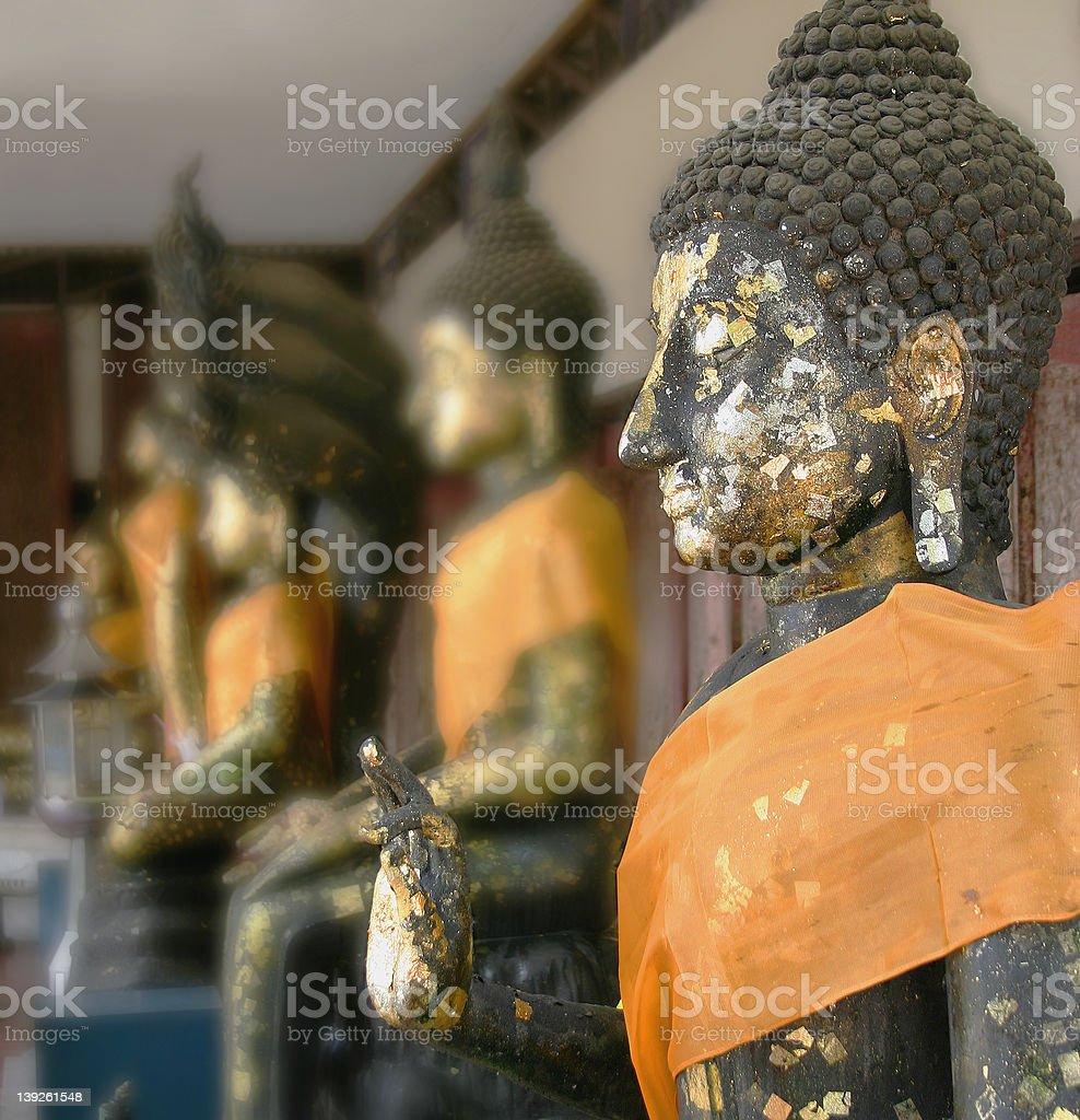 Buddha statues, Bangkok, Thailand royalty-free stock photo