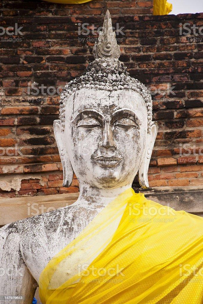 Posągów Buddy w Ayutthaya zbiór zdjęć royalty-free