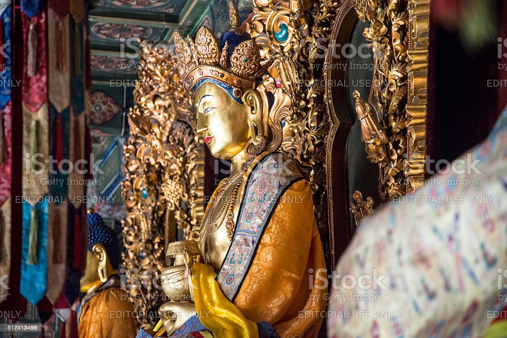 Buddha statues in YongHe temple in Beijing, China stock photo