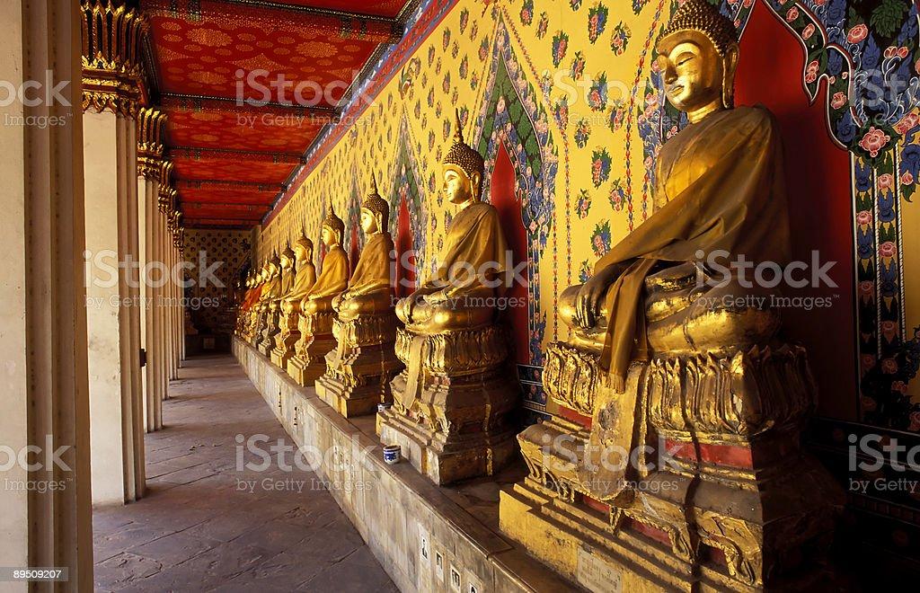 buddha statues wat arun bangkok thailand royalty-free stock photo