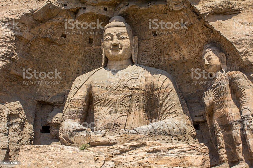 Buddha statues Yungang Grotto China Asia stock photo