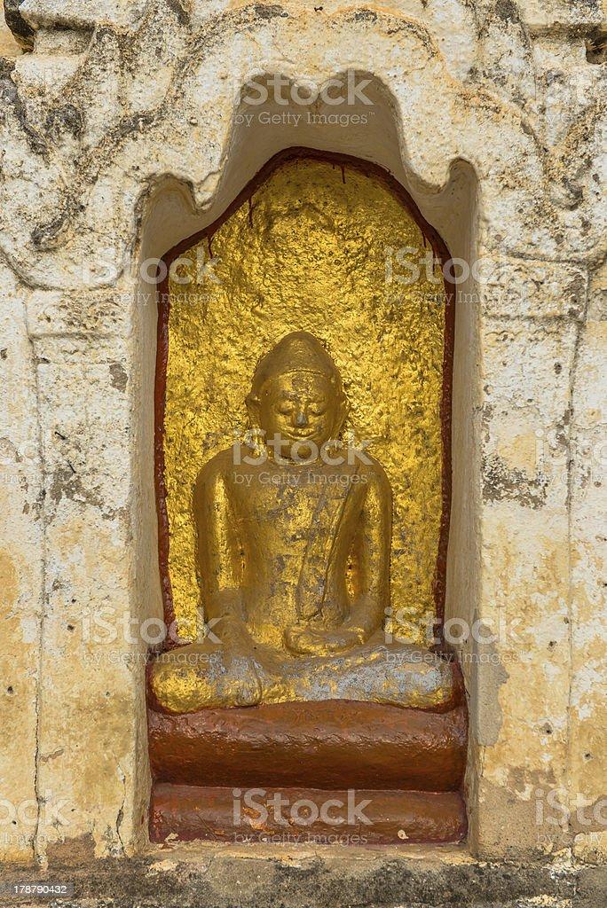 Buddha statutes in Old Bagan, Mandalay, Burma royalty-free stock photo