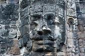 Buddha Stone Face At Bayon Temple