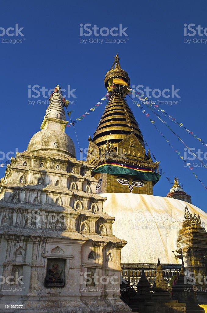 Buddha Stupa in Kathmandu royalty-free stock photo