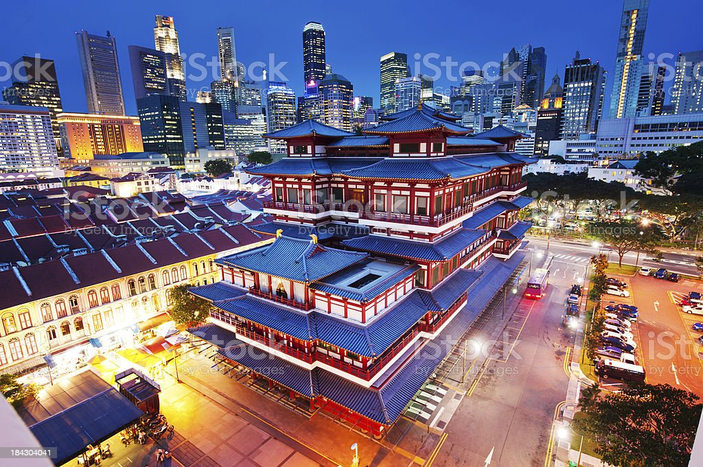 Buddha Tooth Relic Temple in Chinatown, Singapore stock photo