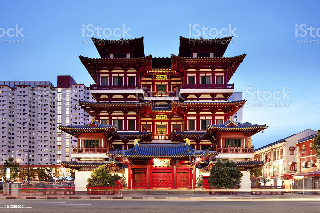 Buddha Tooth Relic Temple, Singapore stock photo