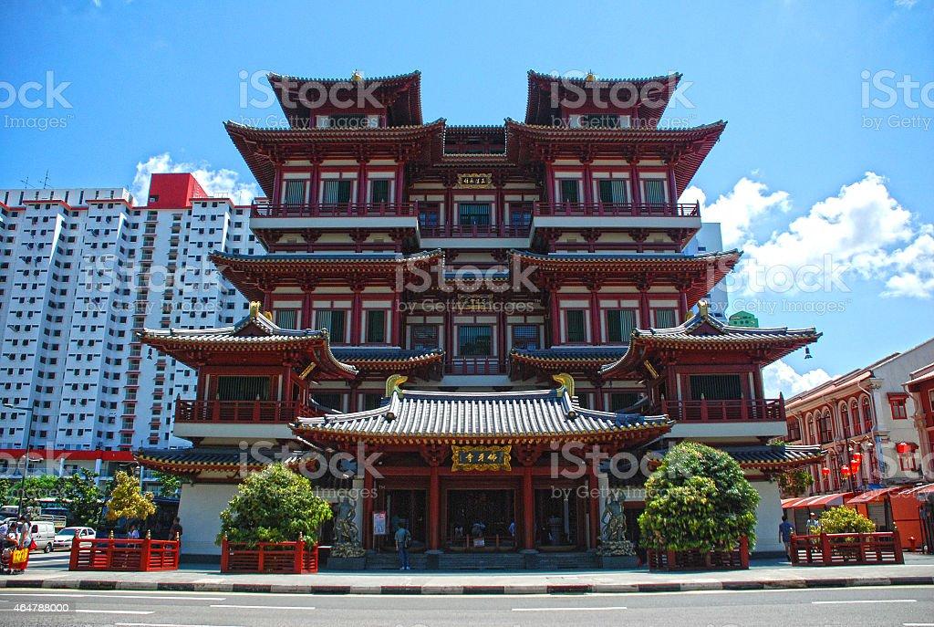 Buddha Tooth Relic Temple Singapore stock photo