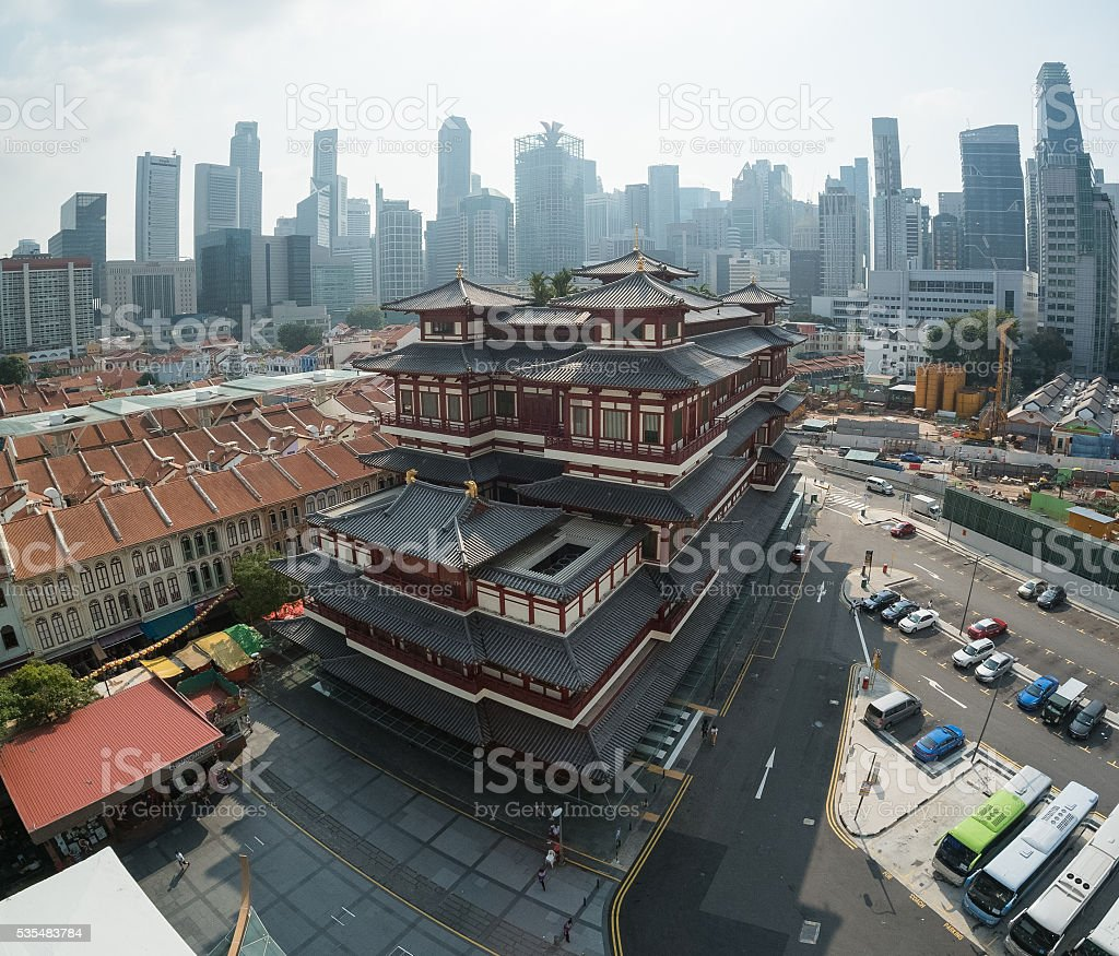 Buddha Tooth Relic Temple,Singapore stock photo