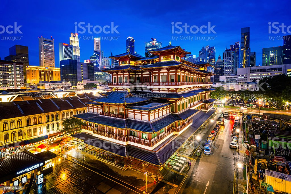 Buddha Toothe Relic Temple, Singapore stock photo