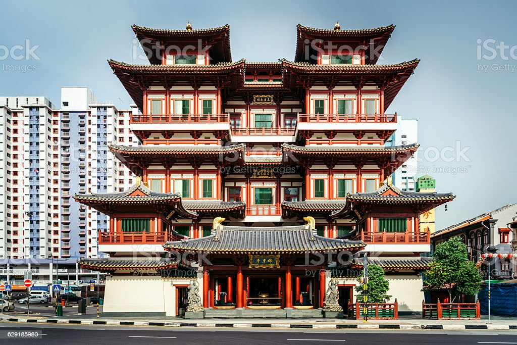 Buddha Toothe Relic Temple, Singapore stock photo