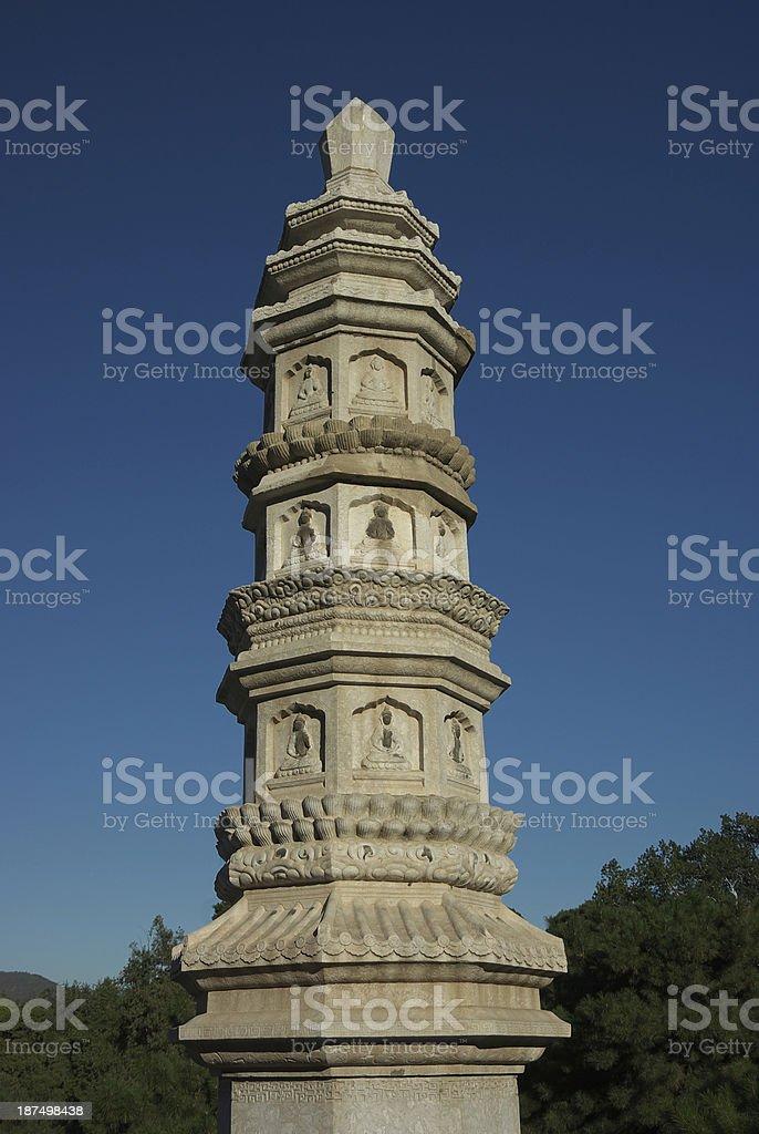 Buddha Tower royalty-free stock photo