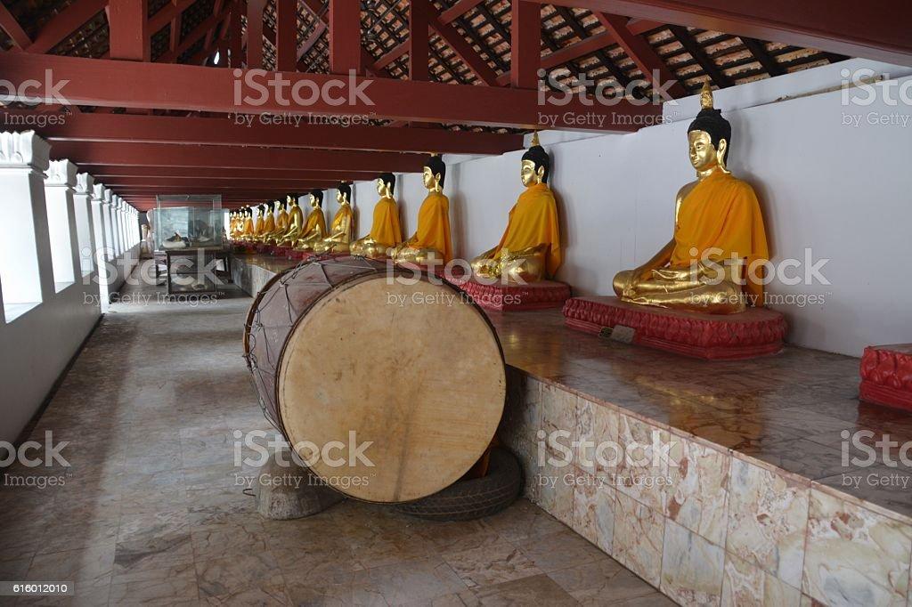 Buddhas ar Wat Phra Mahathat, Nakhon Si Thammarat, Thailand stock photo