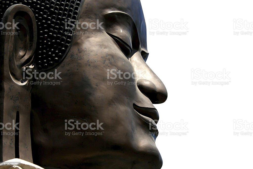 Buddha's face stock photo