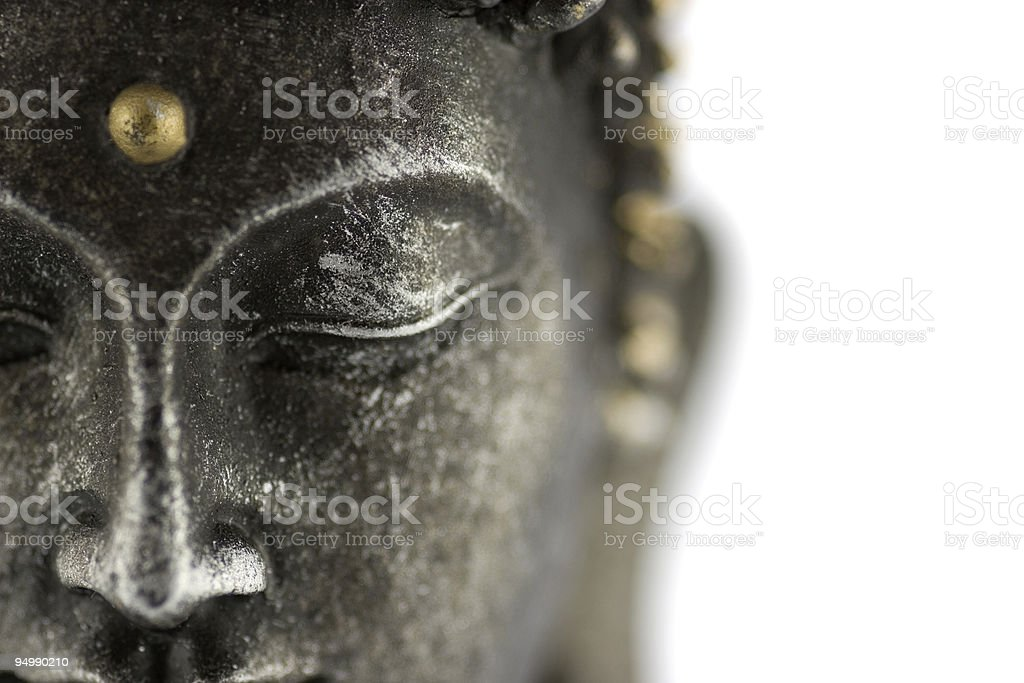 Buddha's face stock photo