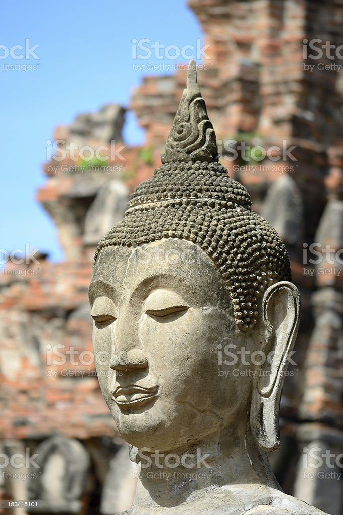Buddha's head royalty-free stock photo