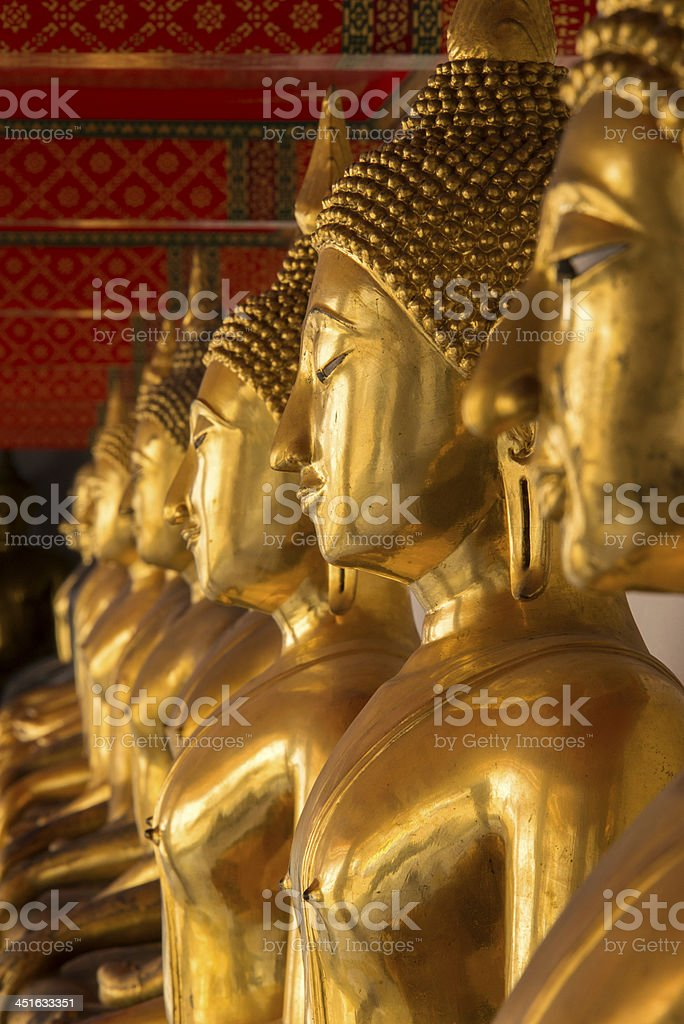 Buddhas in Selective Focus stock photo