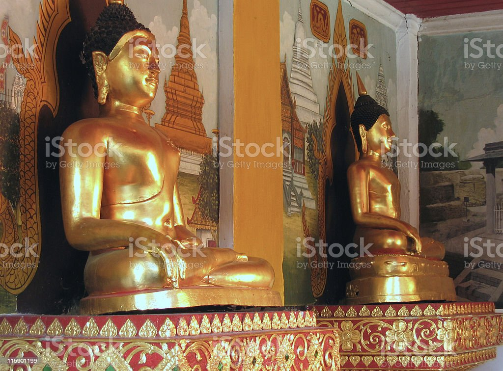 Buddhas of Doi Suthep royalty-free stock photo