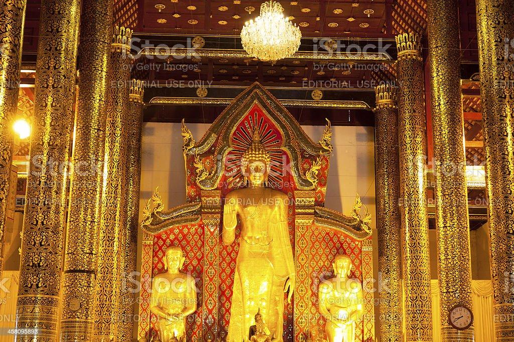 Buddhas of Wat Chedi Luang royalty-free stock photo