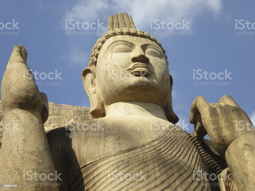 Buddha's statue in Avukana stock photo