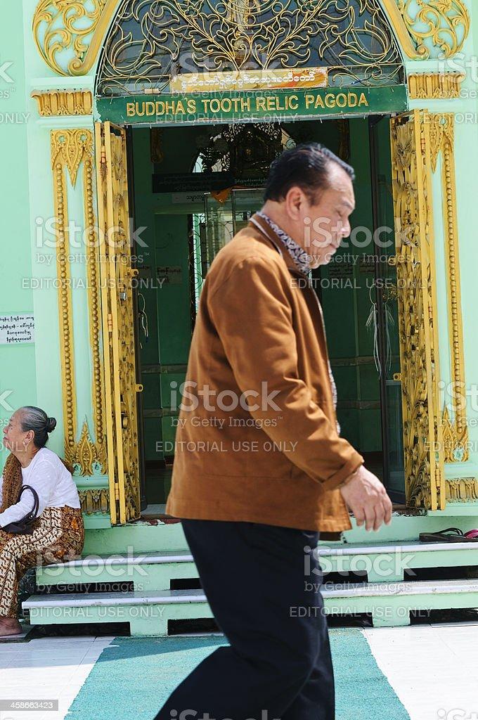 Buddha's tooth relic pagoda in Yangon royalty-free stock photo