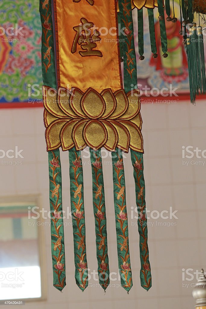 Buddhism Banners on Chinese temple 6 royalty-free stock photo