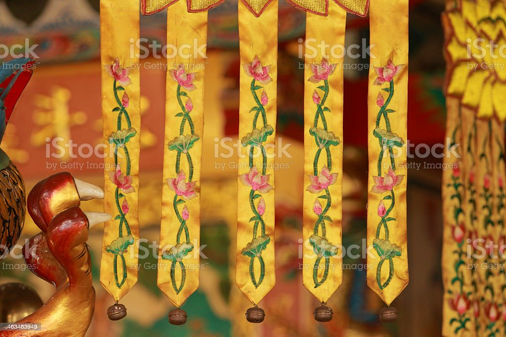 Buddhism Banners on Chinese temple 7 royalty-free stock photo